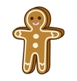 Christmas cookie cake isolated icon vector image vector image
