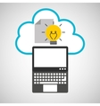 cloud computing idea document vector image vector image