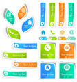 Contact element set for design vector image
