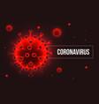 covid19-19 novel coronavirus respiratory influenza vector image