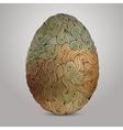 Doodles ornament easter egg background vector image vector image