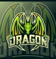 dragon mascot logo esport vector image