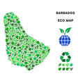 eco green collage barbados map vector image vector image