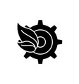 eco trends black icon sign on isolated vector image