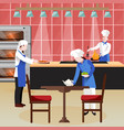 flat cooking people composition vector image vector image
