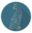 Flat icon of cat vector image vector image