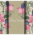 floral design card vector image vector image