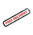 free delivery text rubber stamp isolated on white vector image vector image