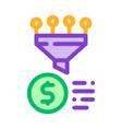 funnel financial information gathering icon vector image vector image