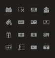 gift cards - flat icons vector image vector image