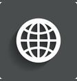 Globe earth icon Travel symbol vector image