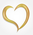 gold heart swirly outline icon vector image vector image