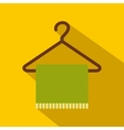 Green scarf on coat-hanger flat icon vector image vector image