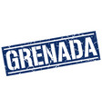 grenada blue square stamp vector image vector image