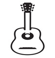 Guitar icon resize vector image vector image