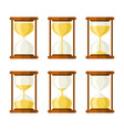 hourglass retro icons set vector image