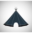 hut wigwam shelter tent house vector image