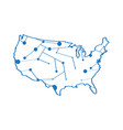 isolated map of the united states vector image