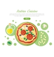Italian Cuisine Web Banner Pizza with Tomatoes vector image
