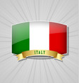 italian flag icon vector image vector image