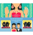 Jewelry And Gifts For Women Banners Set vector image vector image