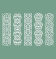 lace borders seamless ornamental panels vector image vector image
