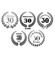 Laurel wreaths heraldic set vector image vector image