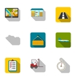 Logistic set icons in flat style Big collection vector image vector image