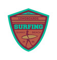 longboard surfing vintage isolated label vector image vector image