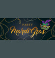mardi gras mask colorful poster banner template vector image vector image