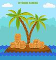 money hidden on island in offshore zone tax vector image