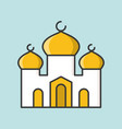 mosque or masjid filled outline icon vector image vector image