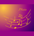 music notation with lines and notes sounds text vector image
