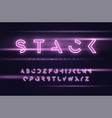 neon futuristic display typeface font vector image vector image