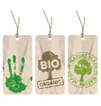 organic tags vector image vector image