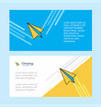 paper plane abstract corporate business banner vector image