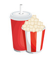 pop corn bucket icon vector image vector image