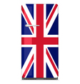 Retro fridge with UK flag vector image vector image
