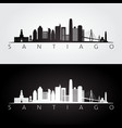 santiago skyline and landmarks silhouette vector image vector image