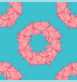 seamless floral background pattern nature theme vector image