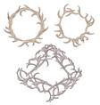 set different frame deer antlers vector image vector image