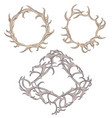 set of different frame of deer antlers vector image vector image