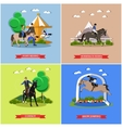 set of horse theme flat design vector image vector image