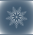 snowflake simple line logo winter isolate icon vector image vector image