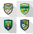 Soccer world championship emblem Superior team vector image