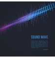 Sound wave background vector image