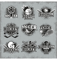 Sports And Competitions Retro Style Logos vector image vector image