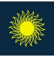 Sun icon Sun logo Summer design vector image