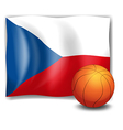 The flag of CzechRepublic and a ball vector image vector image