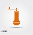 traditional arab coffee grinder flat icon vector image